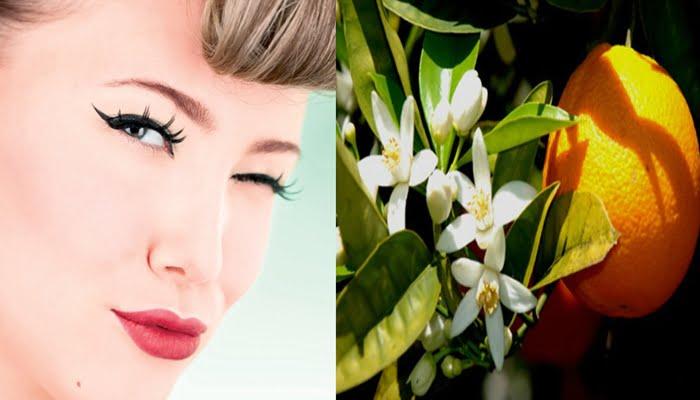 Água de flor de laranjeira como fixador de maquiagem