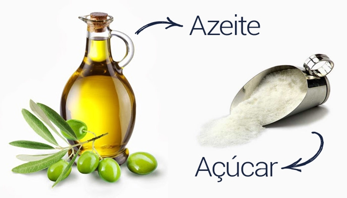 Esfoliante de açúcar e azeite de oliva