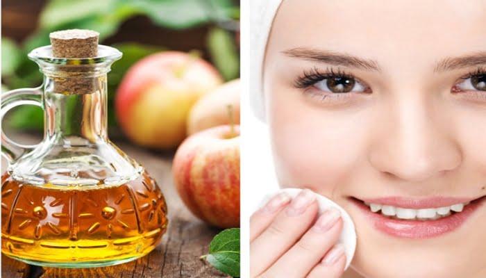 Vinagre de maçã para limpar o rosto